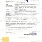 Irri6 White Rice for Health Certificate.